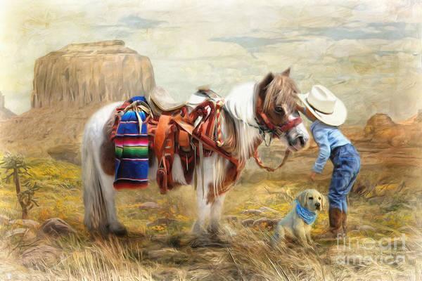 Wall Art - Digital Art -  Cowboy Up by Trudi Simmonds