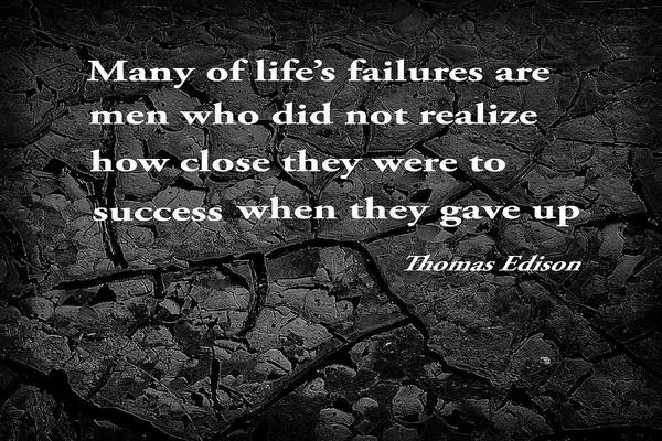 Proverb Photograph -  Cracked Mud With Inspirational Text by Donald  Erickson