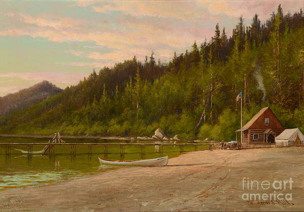 1923 Painting -  Echo Lake by Celestial Images