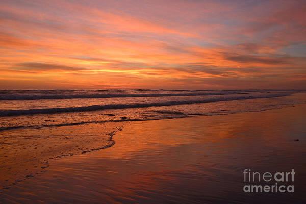 Photograph -  Encinitas Surf And Sky by John F Tsumas