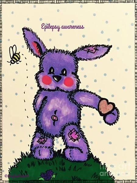 Epilepsy Awareness Bunny Art Print