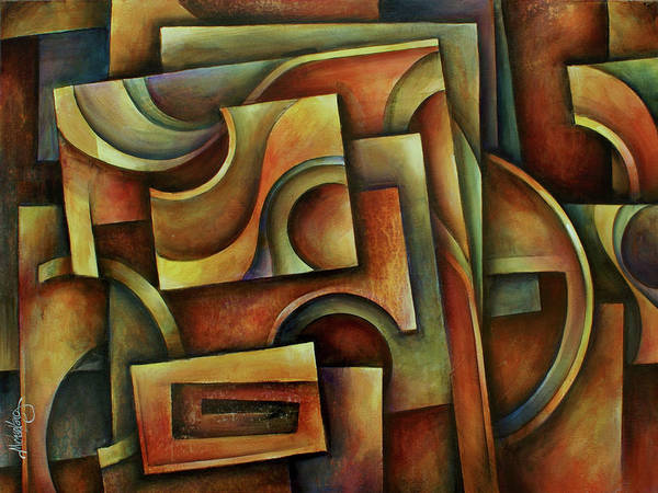 Wall Art - Painting -  ' Evolution Of Space ' by Michael Lang