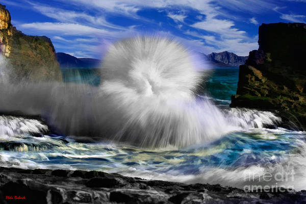 Photograph -  Exploding Women Wave by Blake Richards