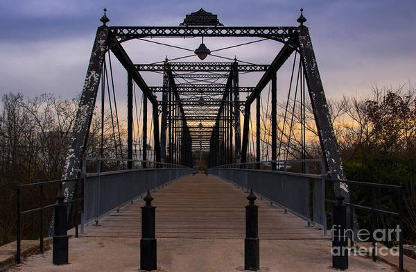 New Braunfels Photograph -  Faust Street Bridge  by Amy Sorvillo