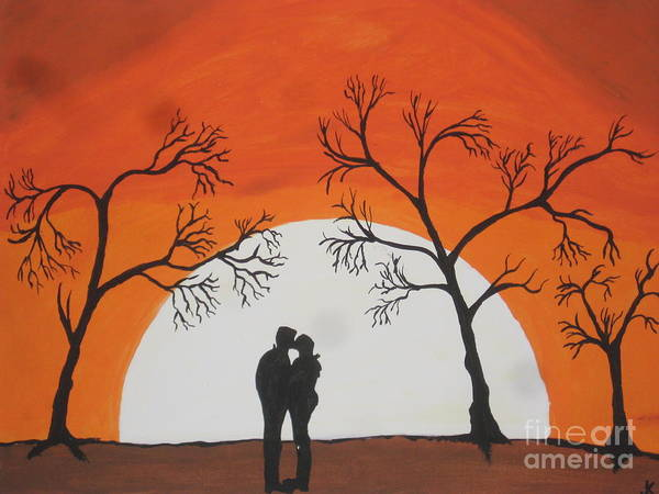 Wall Art - Painting -  First Kiss by Jeffrey Koss