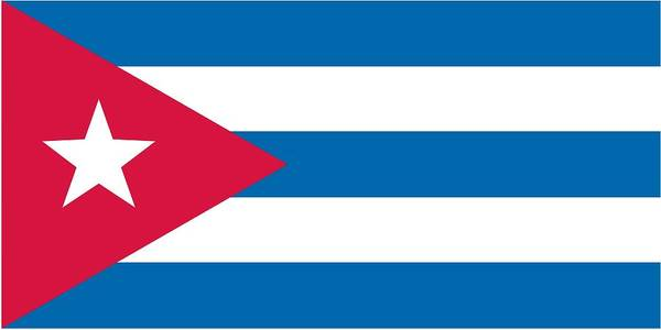 Cuban Painting -  Flag Of Cuba by Unknown