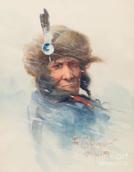Native American Culture Painting -  From The North by Celestial Images