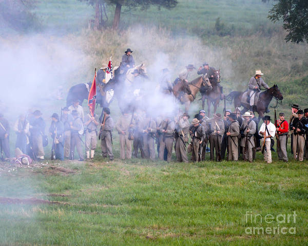Photograph -  Gettysburg Confederate Infantry 7503c by Cynthia Staley