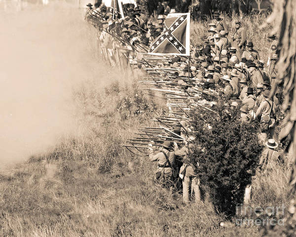 Photograph -  Gettysburg Confederate Infantry 8769s by Cynthia Staley