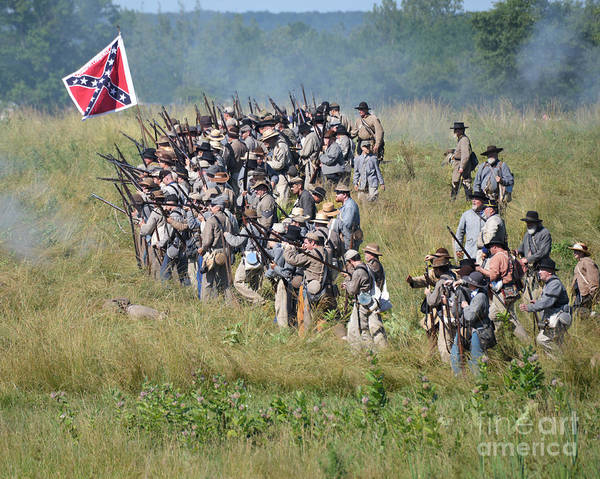 Photograph -  Gettysburg Confederate Infantry 9015c by Cynthia Staley