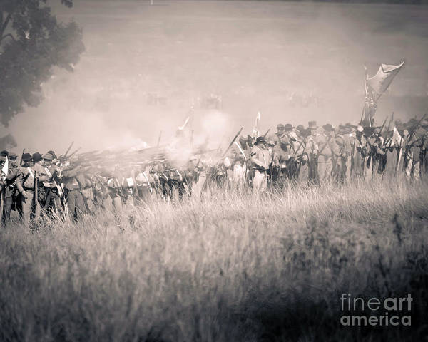 Photograph -  Gettysburg Confederate Infantry 9112s by Cynthia Staley