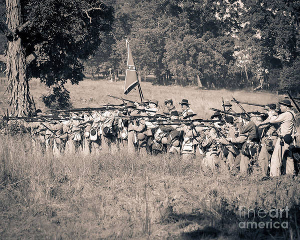 Photograph -  Gettysburg Confederate Infantry 9270s by Cynthia Staley