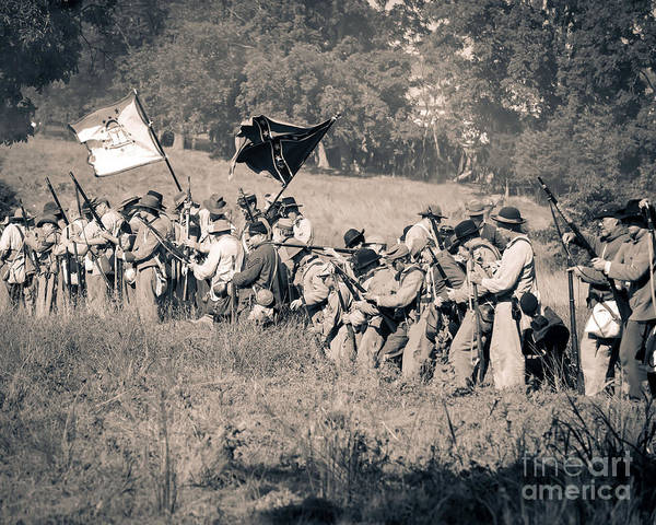 Photograph -  Gettysburg Confederate Infantry 9281s by Cynthia Staley