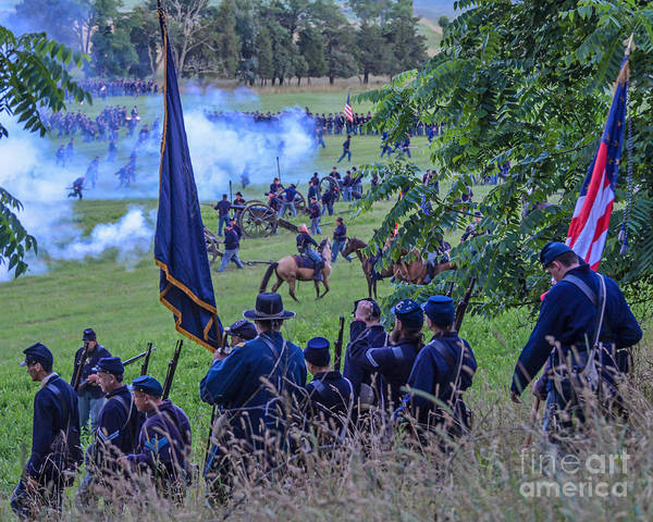 Gettysburg Union Artillery And Infantry 7459c Art Print