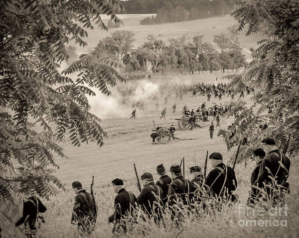 Gettysburg Union Artillery And Infantry 7465s Art Print
