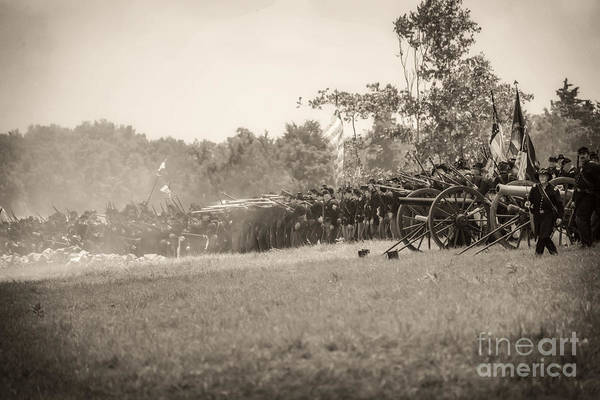 Photograph -  Gettysburg Union Infantry 9968s by Cynthia Staley