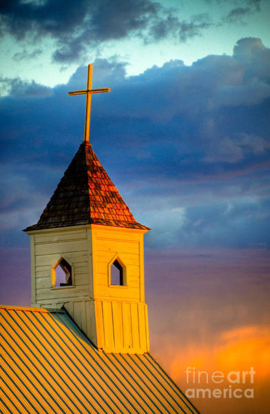 Wall Art - Photograph -  Goldfield Church by Kelly Wade