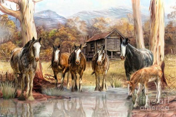 Wall Art - Digital Art -  High Country Hideaway by Trudi Simmonds