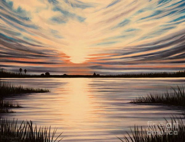 Painting -  Highlights Of A Sunset by Elizabeth Robinette Tyndall