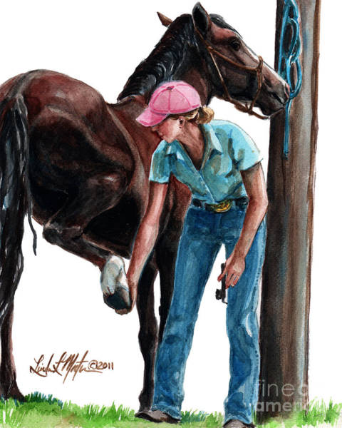 Painting -  Holding Hands by Linda L Martin