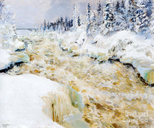 Painting -  Imatra In Winter  by Celestial Images