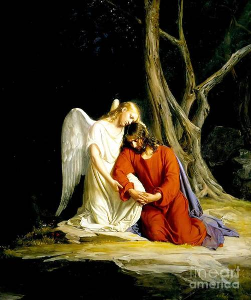 Wall Art - Painting -  In Gethsemane by MotionAge Designs