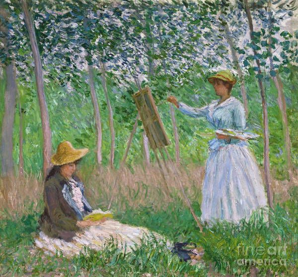 Painting -  In The Woods At Giverny by Celestial Images