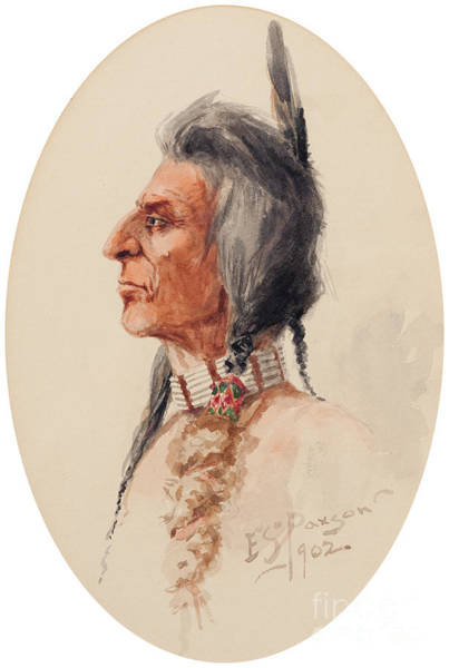 Native American Culture Painting -  Indian Brave by Celestial Images