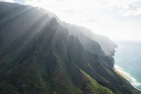 Photograph - Na Pali Coast by OLena Art Brand
