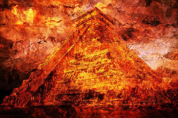 Chichen Digital Art -  C H I C H E N  .  I T Z A .  Pyramid by J  - O   N    E