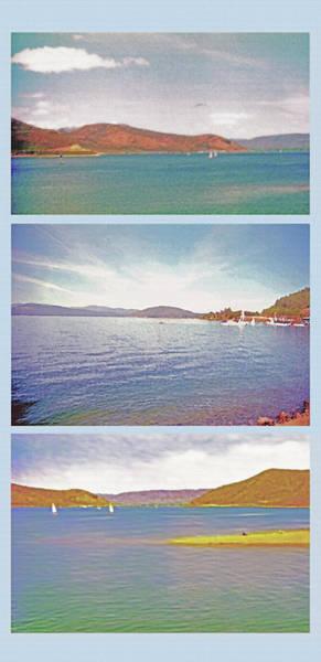 Fun Wall Art - Photograph -  Lakes Triptych by Steve Ohlsen
