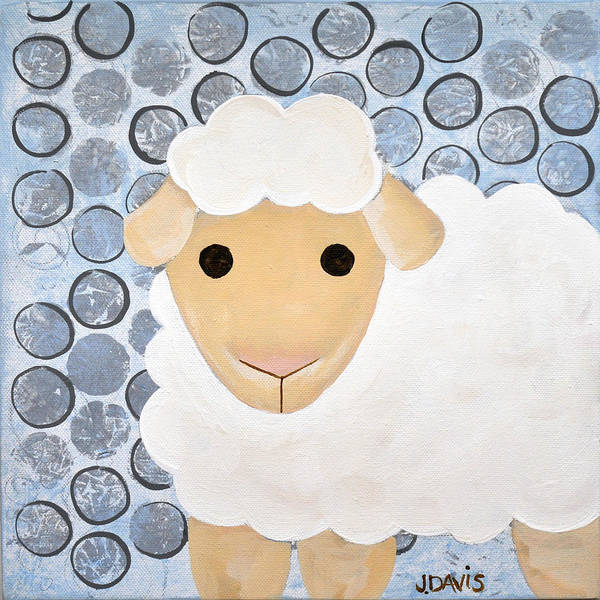 Painting -  The Blessing Of The Lamb by Julie Davis Veach