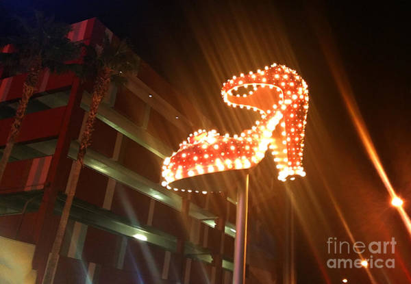 Painting -  Las Vegas Neon Shoe by Gregory Dyer