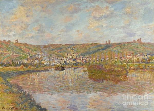 Vetheuil Wall Art - Painting -  Late Afternoon Vetheuil by Celestial Images
