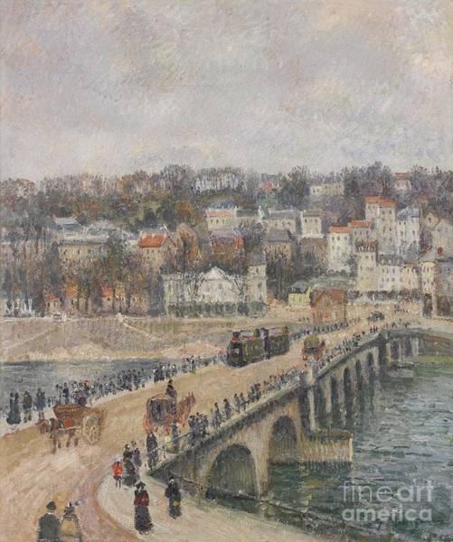 Manzana Wall Art - Painting -  Le Pont De Saint Cloud by MotionAge Designs