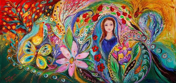 Wall Art - Painting -  Leah And Flower Of Mandragora by Elena Kotliarker
