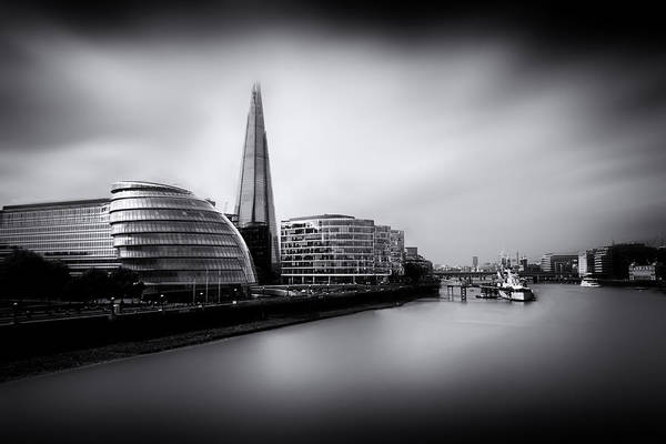 Wall Art - Photograph -  London City And The Shard.  by Ian Hufton