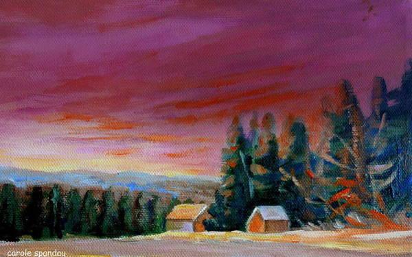 Painting -  Lovely Sweeping Skies  by Carole Spandau