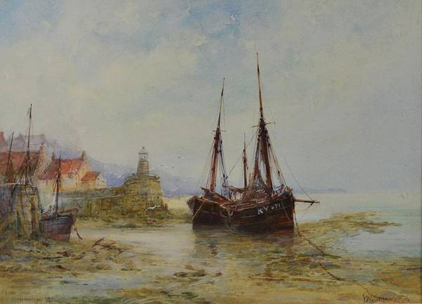 Fife Painting -  Low Tide Pittenween by MotionAge Designs