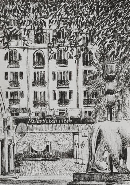 South Drawing -  Majestic  Cannes by Vincent Alexander Booth