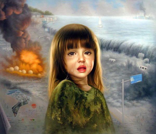 Tsunami Painting -  Minha Fukushima by Yoo Choong Yeul