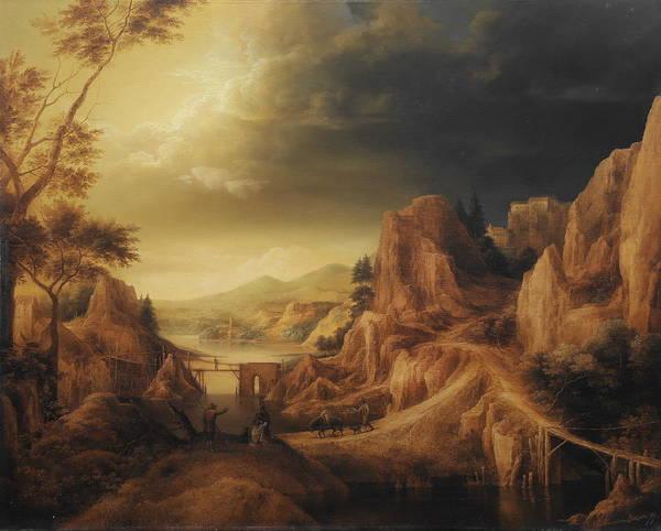 Wall Art - Painting -  Mountain Landscape by Arthur Braginsky