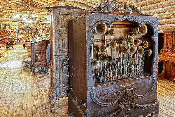 Player Piano Photograph -  Music Hall - Nevada City Montana Ghost Town by Daniel Hagerman