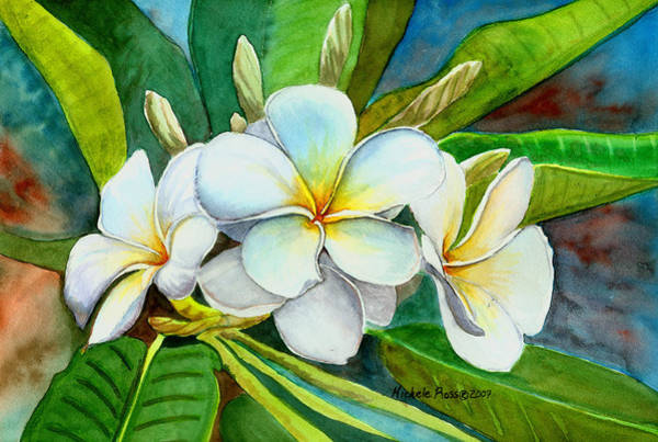 Plumeria Wall Art - Painting -  My Favorite by Michele Ross