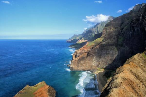 Photograph -  North Na Pali Coast by OLena Art Brand