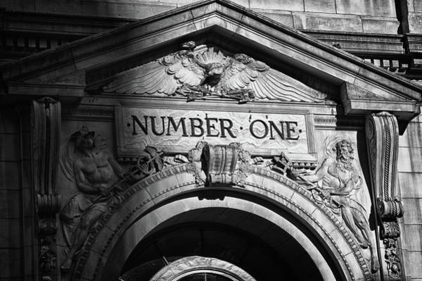 Photograph -  Number One Building In Black And White by Val Black Russian Tourchin