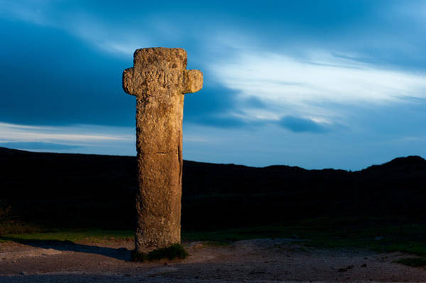 Photograph -  Nuns Cross At Sunset I by Helen Northcott