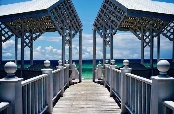 Photograph -  Oceanfront Pavilion by Anthony Dezenzio