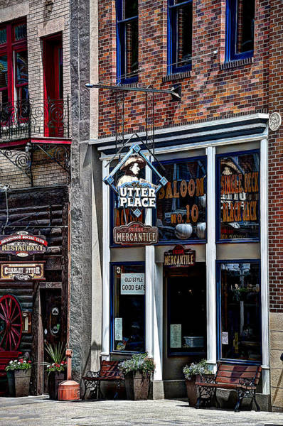 Wild Bill Hickock Photograph -  Old Style Saloon No.10 by Deborah Klubertanz