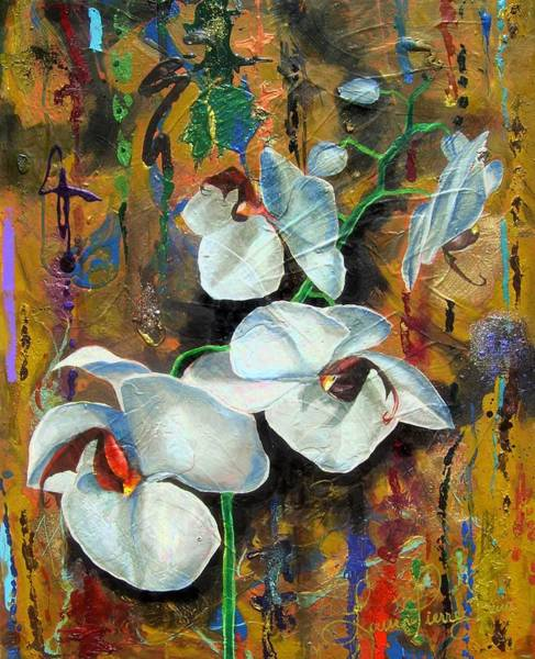 Wall Art - Painting -  Orchid Yo by Laura Pierre-Louis